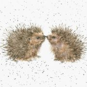Wrendale Hogs and Kisses Hedgehog Greeting Card
